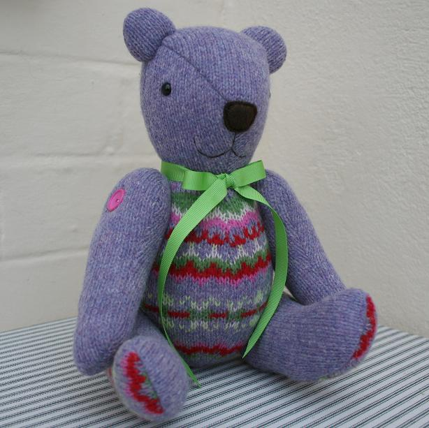 Recycled sweater bear