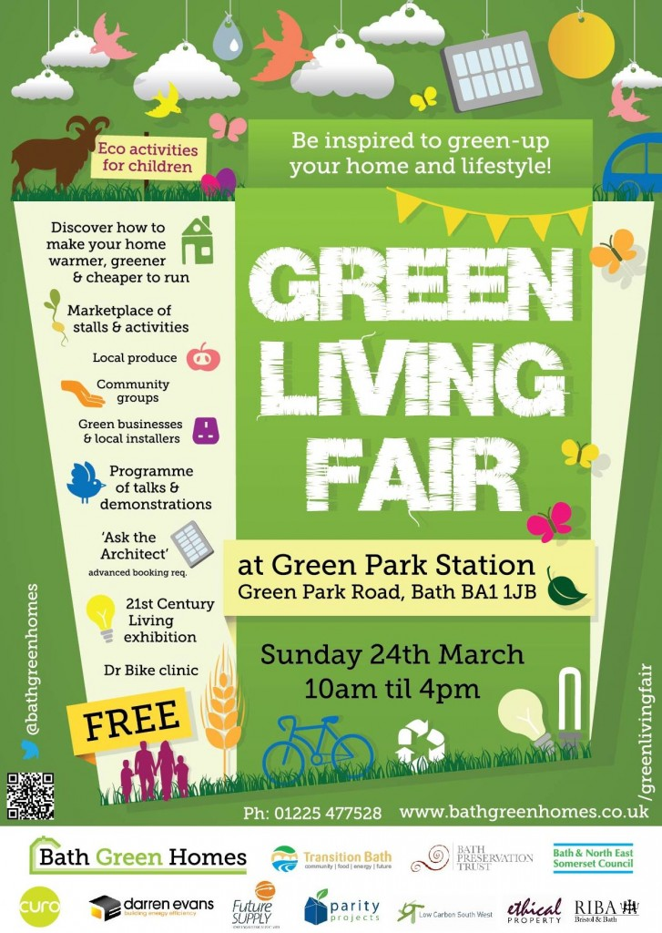 Green Living Fair: 24th March in Green Park Station, Bath