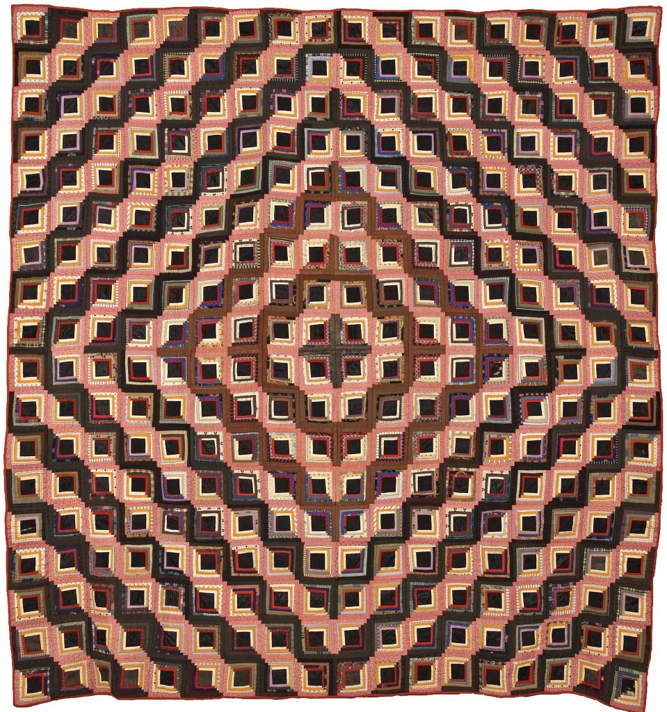 Ellen Bryant's 1863 log cabin quilt