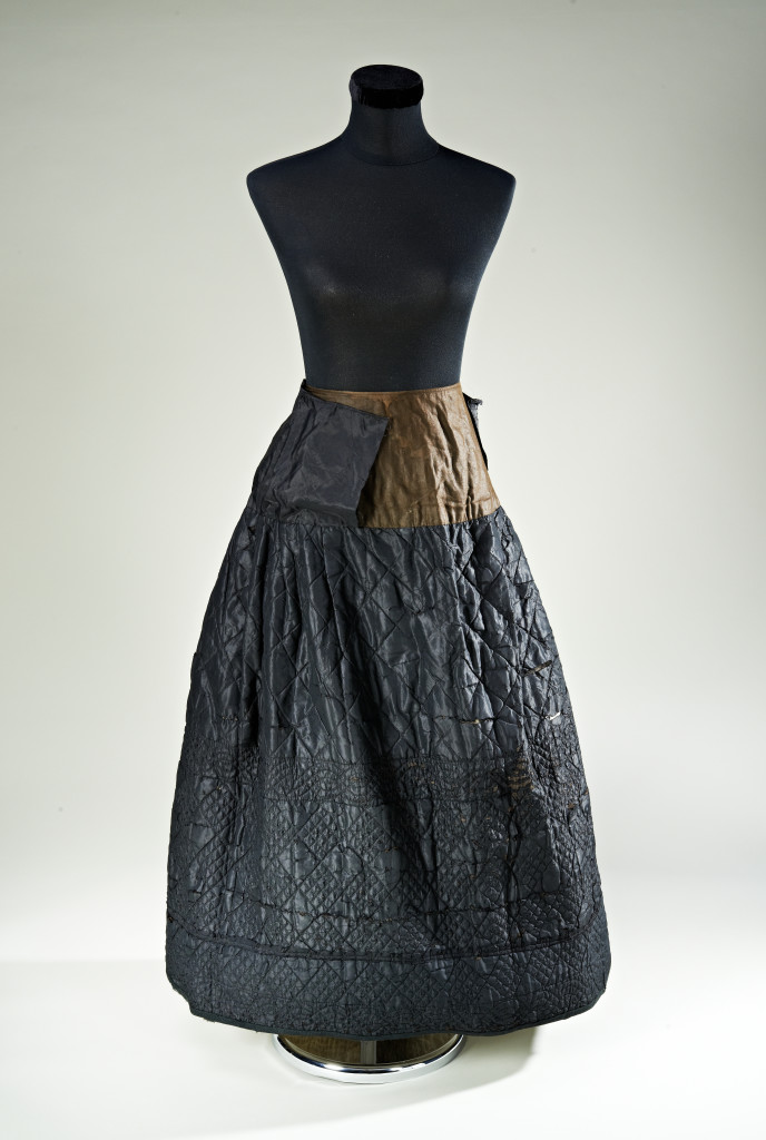 Welsh quilted burial skirt, nineteenth century, courtesy of Jen Jones